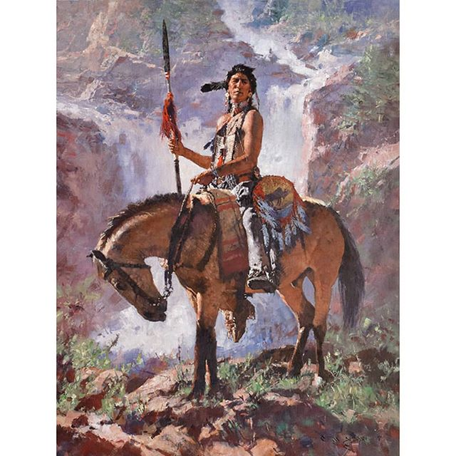 """""""PROUD""""  oil on linen  40 in by 30 in  Thank you Tyler Perry for your purchase and becoming one of my collectors! . . . . . #westernartforsale #westernart #nativeamerican #nativeamericanartwork #indians #artwork  #indianartwork #westernartcollectors #artworks #frontierartwork #frontierpaintings #cmdudash #cmdudashart #cowboyartistsofamerica"""