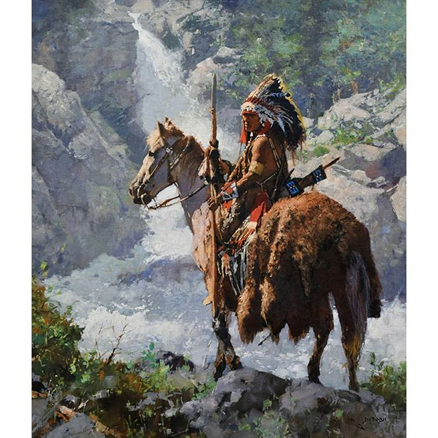 """A painting called """"Nobility"""" that will be sold at the Cowboy Artists of America Show in Fort Worth, TX Nov 1-2.  Oil on Linen 30"""" x 26"""". Come to the show and see it in person!!! cowboyartistsofamerica.com . . . . . # westernart #westernpaintings #cowboyart #frontierpaintings #westernartwork #cmichaeldudash #cmdudash #americanoilpaintings #cowboys #theoldwest #artwork #artworks #art #paintings #artwork"""