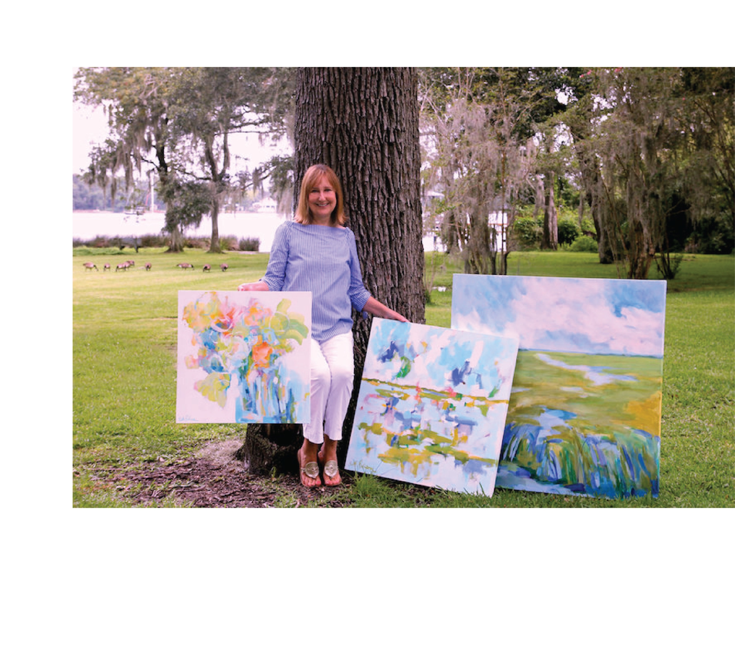 Beth Robison - Born in Jacksonville, Florida. Beth has always loved everything creative. In the fourth grade she discovered a love for painting. Beth attended Auburn University and Jacksonville University. When Beth's children were on their own, she returned to painting. Continuing her passion for art she participated in drawing, watercolor and oil workshops. Beth paints primarily in acrylic in her home studio and enjoys painting abstract florals and landscapes.REQUEST BETH ROBISON'S PORTFOLIO