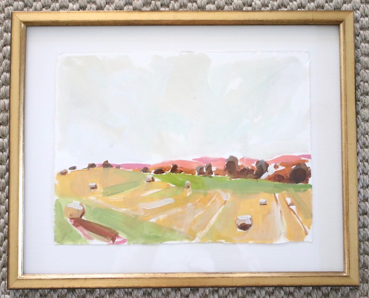 Artwork by Christine Yates. Framed by Frame of Mind. Available to Shop.