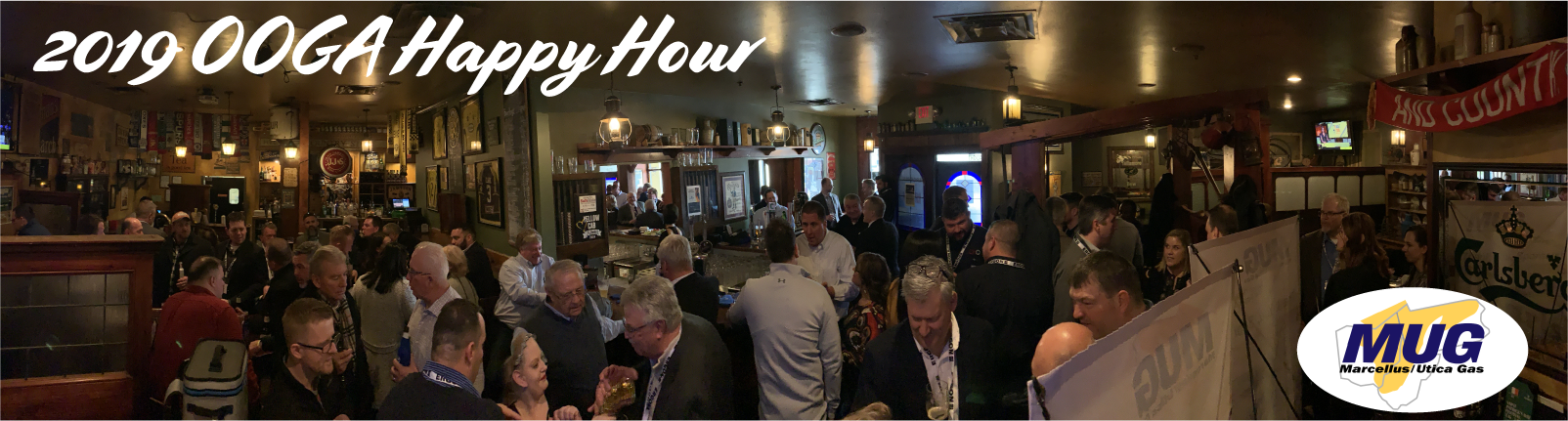 The Marcellus & Utica Gas Suppliers, Services, and Manufacturers Association's happy hour event held during the 2019 Ohio Oil and Gas Association's Annual Meeting in Columbus, OH on March 7, 2019.