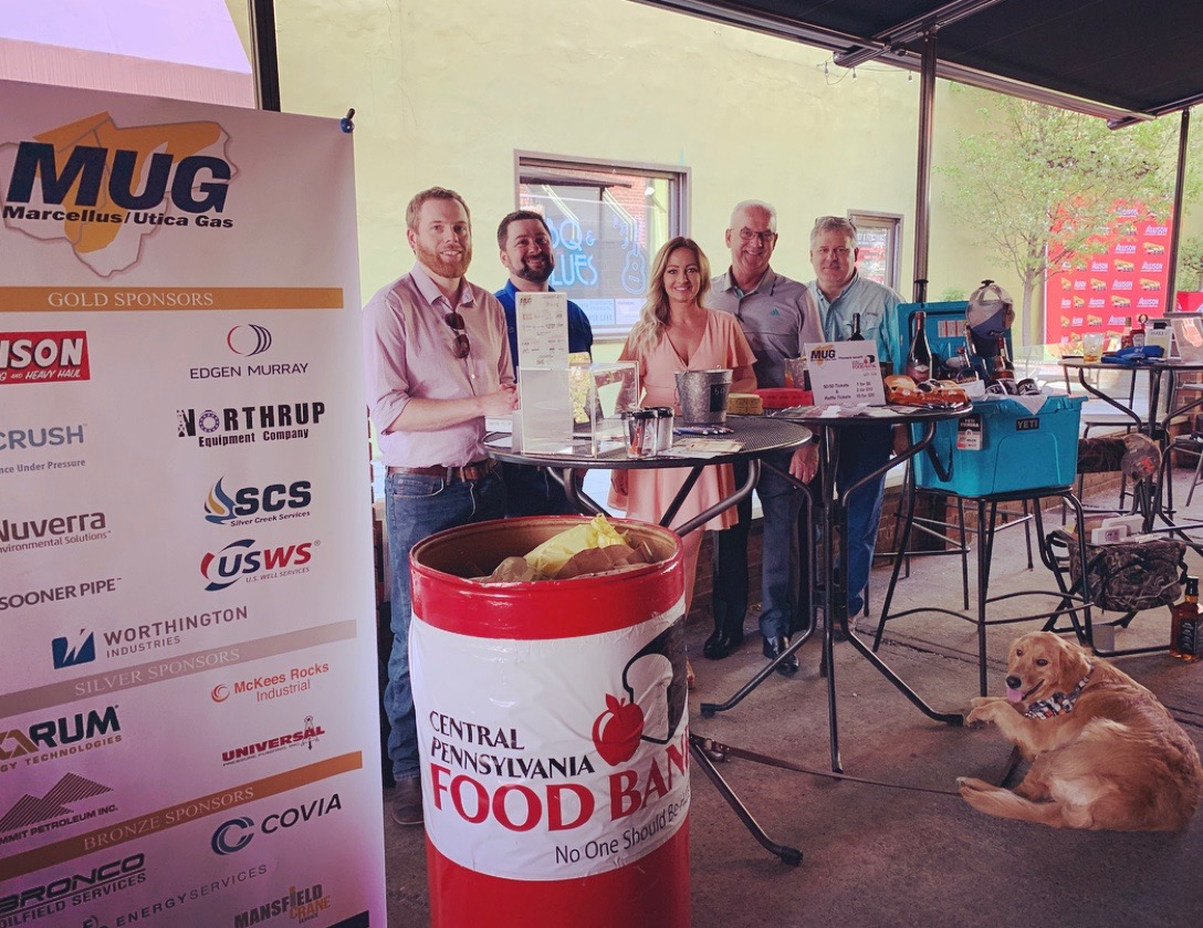 MUG Board Members Chris LaBarte (US Well Services), Zane Johnson (Sooner Pipe), Crystal Miller (Silver Creek Services), Tommy Smith (Edgen Murray), and Todd Householder (Worthington Industries).