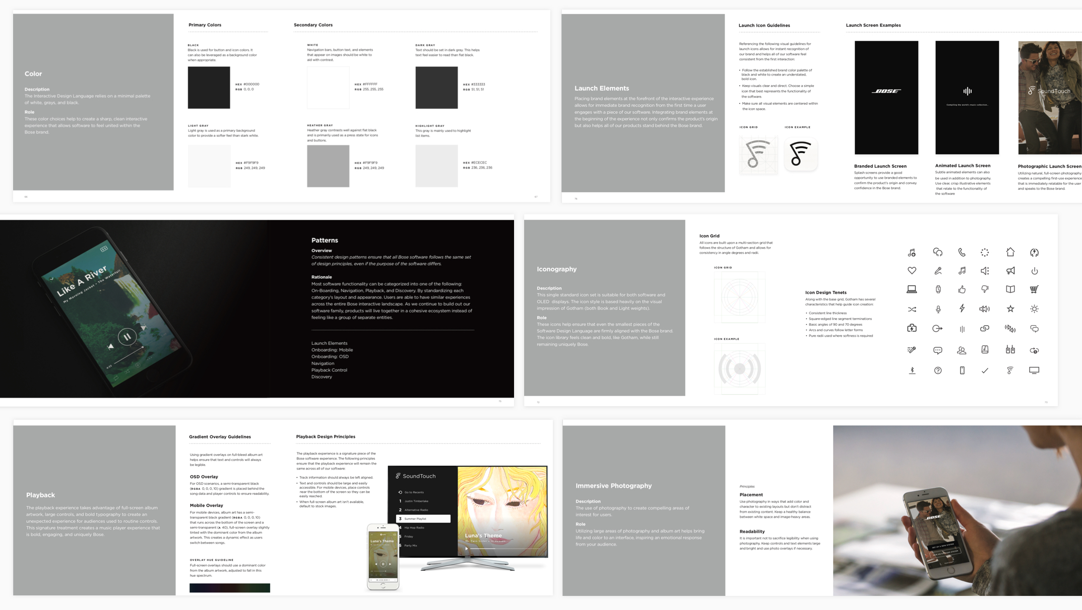 Excerpts from the visual design guidelines