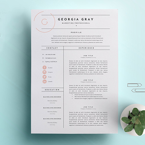 girlboss.com - This template is great for when you want to elaborate in depth on a few key skills or past experiences, and then list the others. It is also perfect for fields where you need to show how professional you are but still want a unique aesthetic aspect.