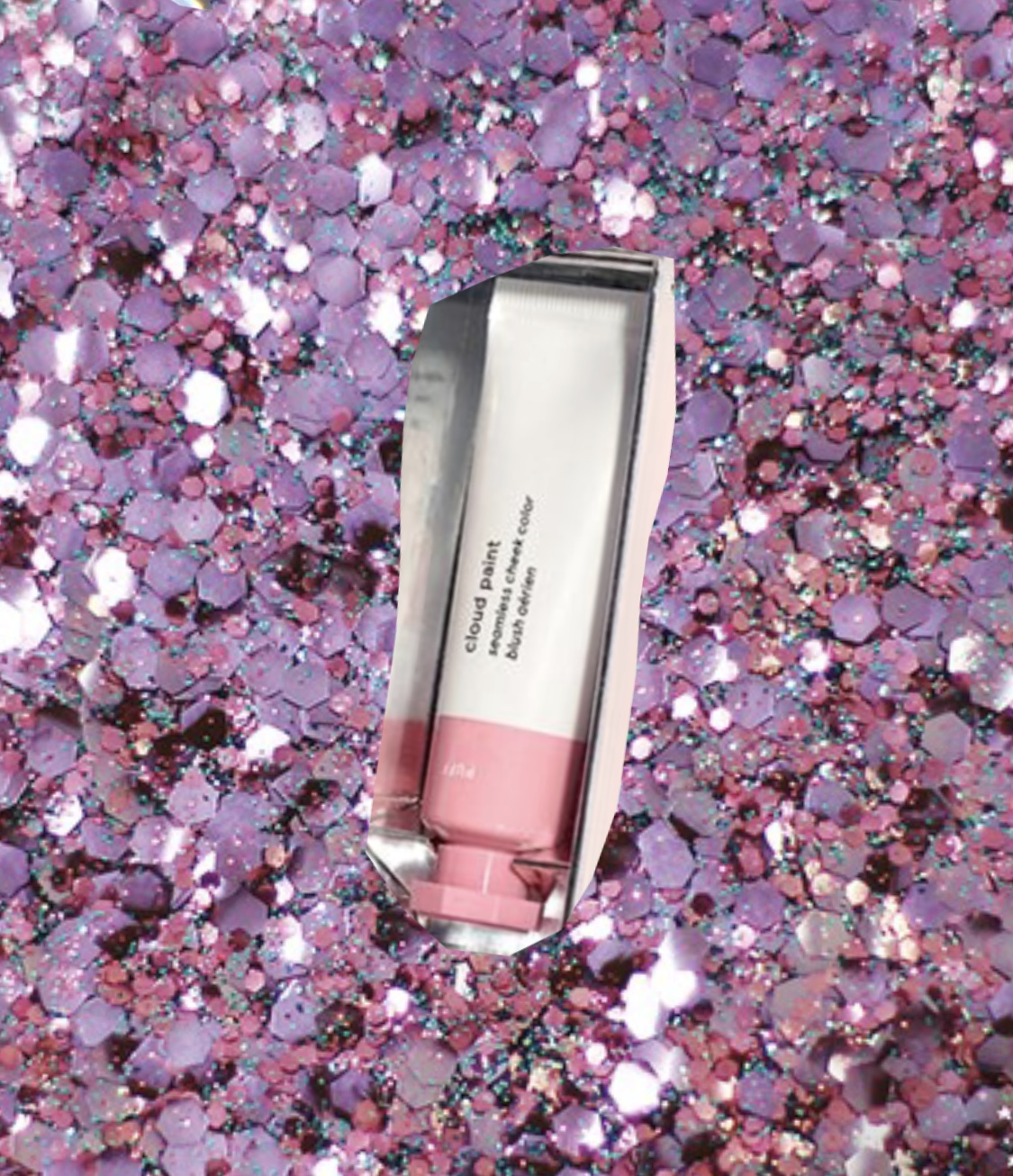 """Glossier Cloud Paint liquid blush  in """"puff""""  This is a blush that does not dry your skin out, look cakey, or damage your skin."""
