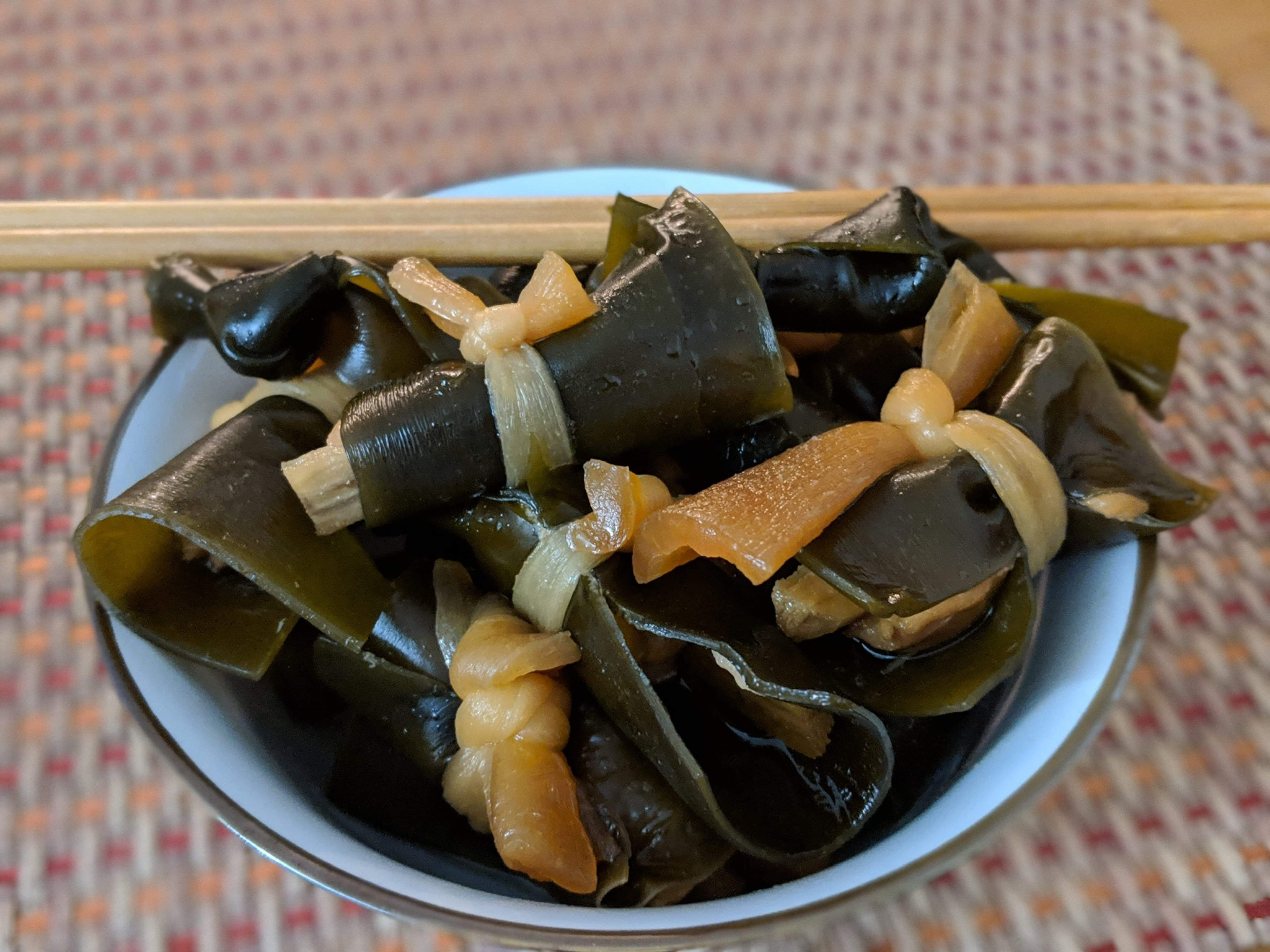 Time to enjoy the konbu maki. photo credit: lauren ho