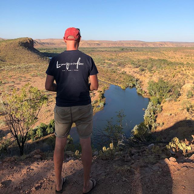 Chris 'Doc' Brown, Boss of @branchouttravelaustralia on the edge of wilderness in The Kimberley.  Chris is passionate about family, travel and nature...and it is all going on in The Kimberley.  Check out our website for the latest tours. . #travel #australia #beauty #thekimberleyaustralia #tours #visitaustralia #melbourne #brand #privatetours