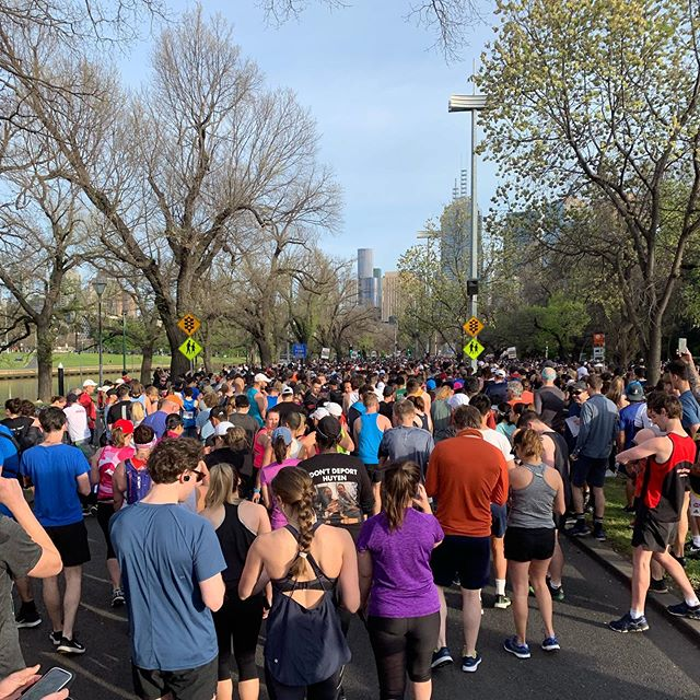 The Melbourne Marathon Festival in full swing.  Just under 12,000 runner participated in the half marathon, taking in the very best of Melbourne and spring. The oldest runner? 91 years old!  The youngest: 16!  Well done to all those who jumped out of bed to train hard and get involved 👍🏻🏃🏻‍♂️. . #halfmarathon #melbournemarathon2019 #marathon #spring #melbourne #australia