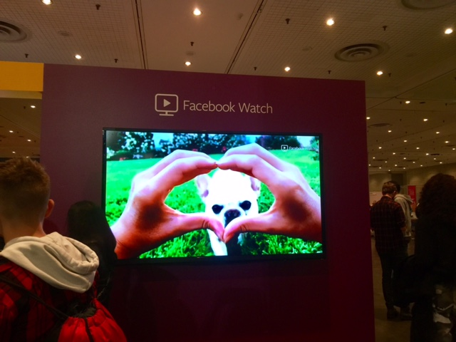 Facebook Watch's booth gave pups their chance to shine - Did you know? The World's Most Amazing Dog is an interactive, competition show that allows users to vote for the winner!