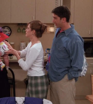 rachel green plaid jammies