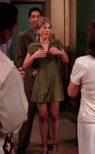 rachel green iridescent dress