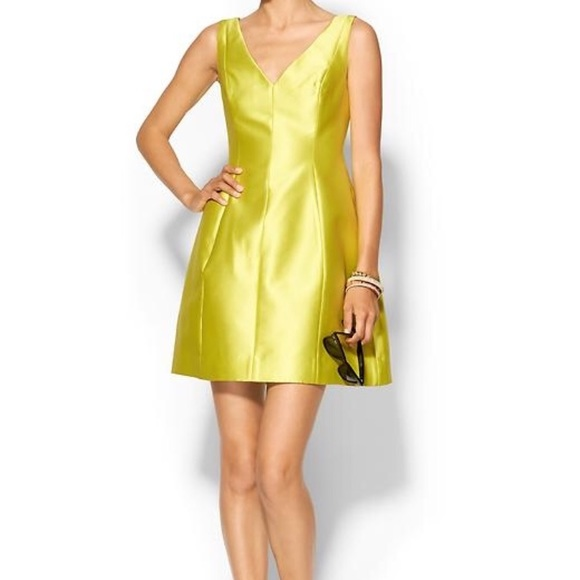 kate spade yellow satin dress