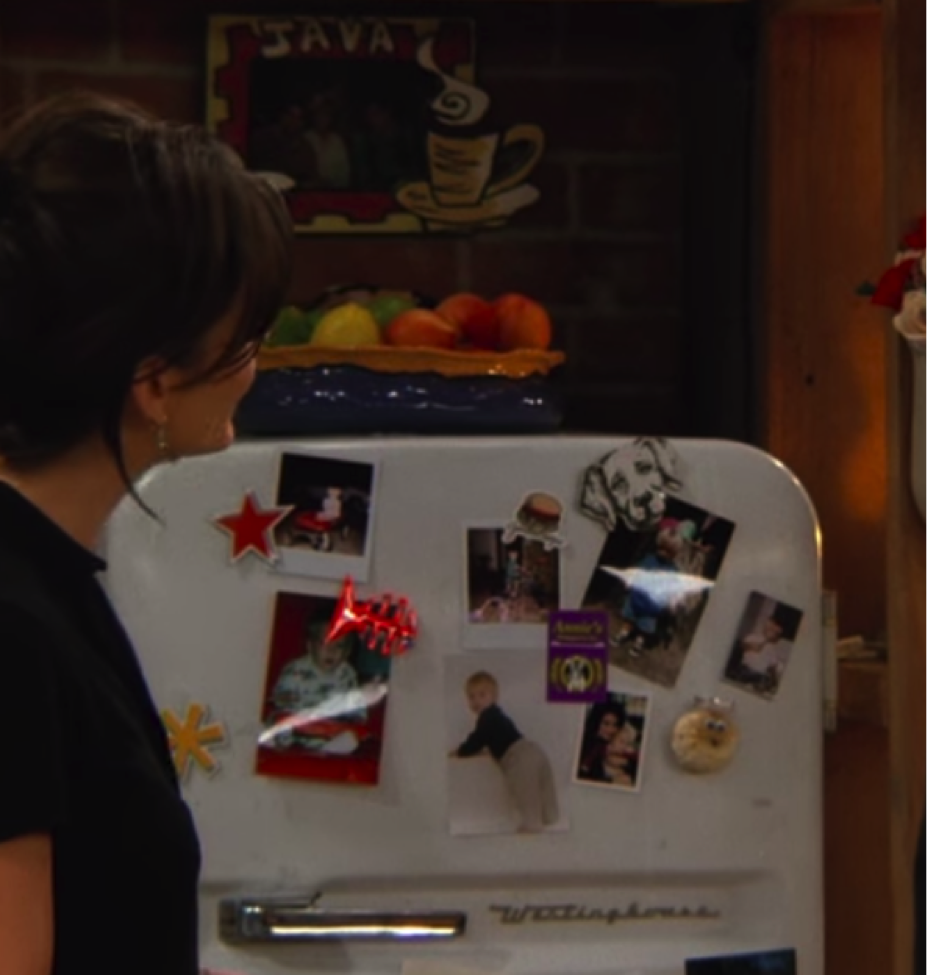 Pictures of Ben on Monica's fridge / Handbag Marinara / @handbagmarinara