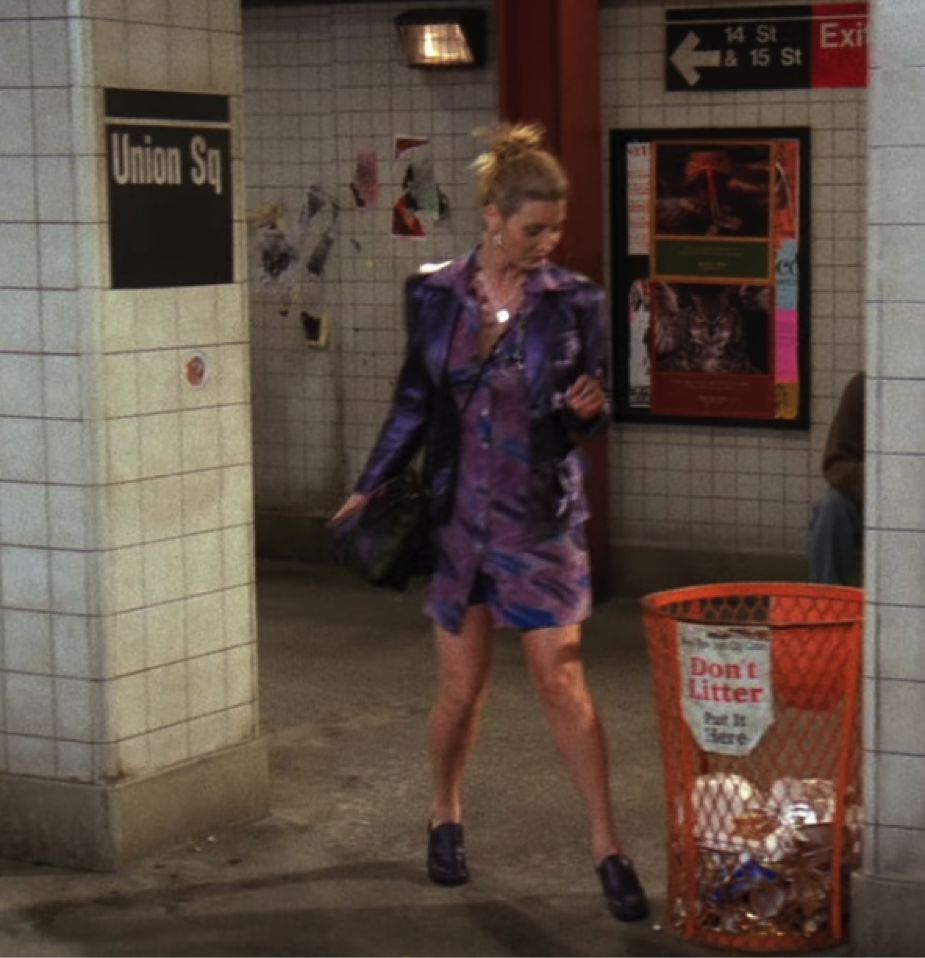 phoebe purple outfit