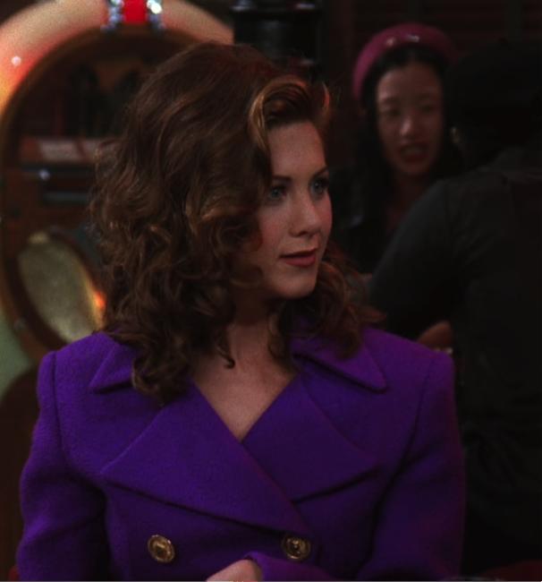rachel long island purple suit