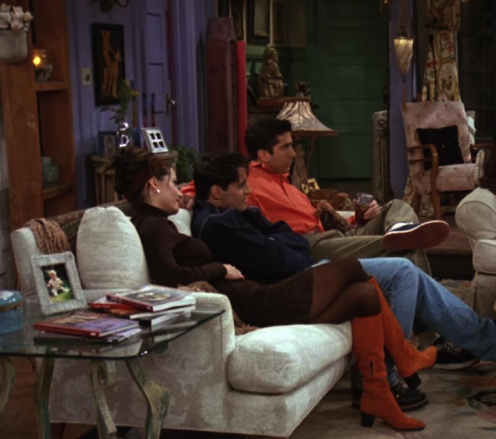 monica orange suede boots
