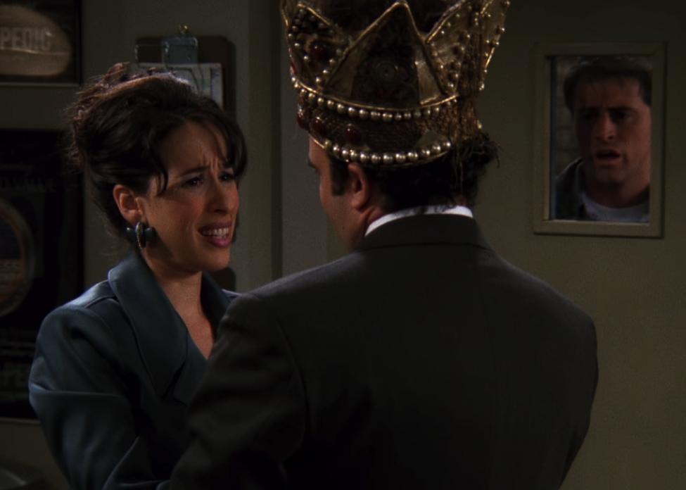 Janice kissed the Mattress King! / NBC Universal / Handbag Marinara: A FRIENDS Podcast / @handbagmarinara
