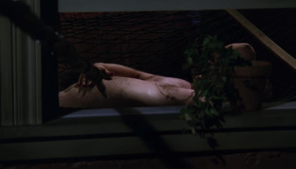 Ugly Naked Guy does not enjoy the giant poking device! / NBC Universal / Handbag Marinara: A FRIENDS Podcast / @handbagmarinara