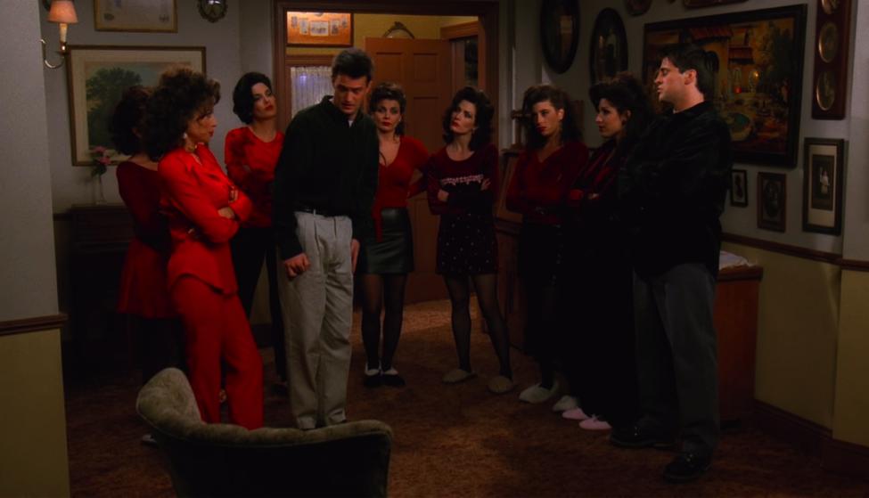 Chandler is so screwed. / NBC Universal / Handbag Marinara: A Friends TV Show Podcast / @handbagmarinara