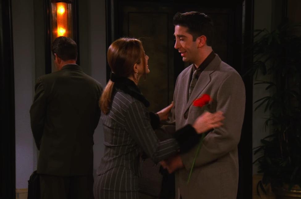 A sweet-yet-toxic move on Ross's part / NBC Universal / Handbag Marinara: A Friends TV Show Podcast / @handbagmarinara