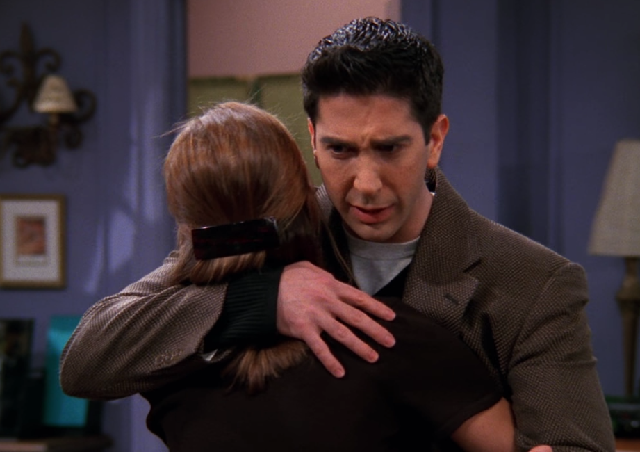 You LIE, Ross Geller, you LIE! / NBC Universal / Handbag Marinara: A Friends Podcast / @handbagmarinara