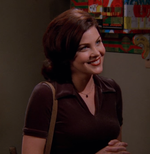 Guest star Sherilyn Fenn as Ginger / NBC Universal / Handbag Marinara: A Friends Podcast / @handbagmarinara