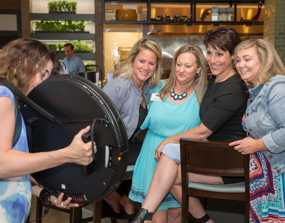 The Roaming Photo Booth is a popular option for parties and cocktail receptions.
