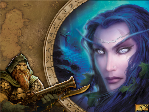 """""""WHY HELLO, BEAUTIFUL! AND WHO'S YOUR NIGHT ELF FRIEND?""""  Copyright Blizzard Entertainment"""