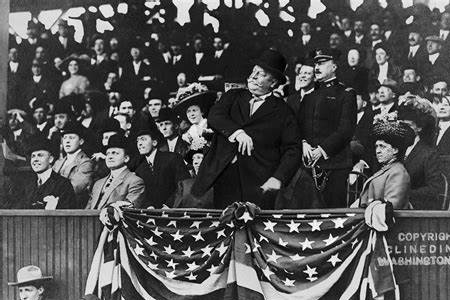 President Taft Throwing out first pitch