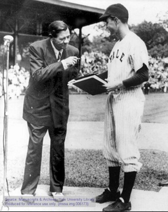 Babe Ruth and Bush 41