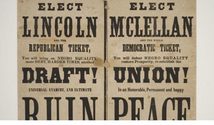 1864 Election Poster Supporting McLellan