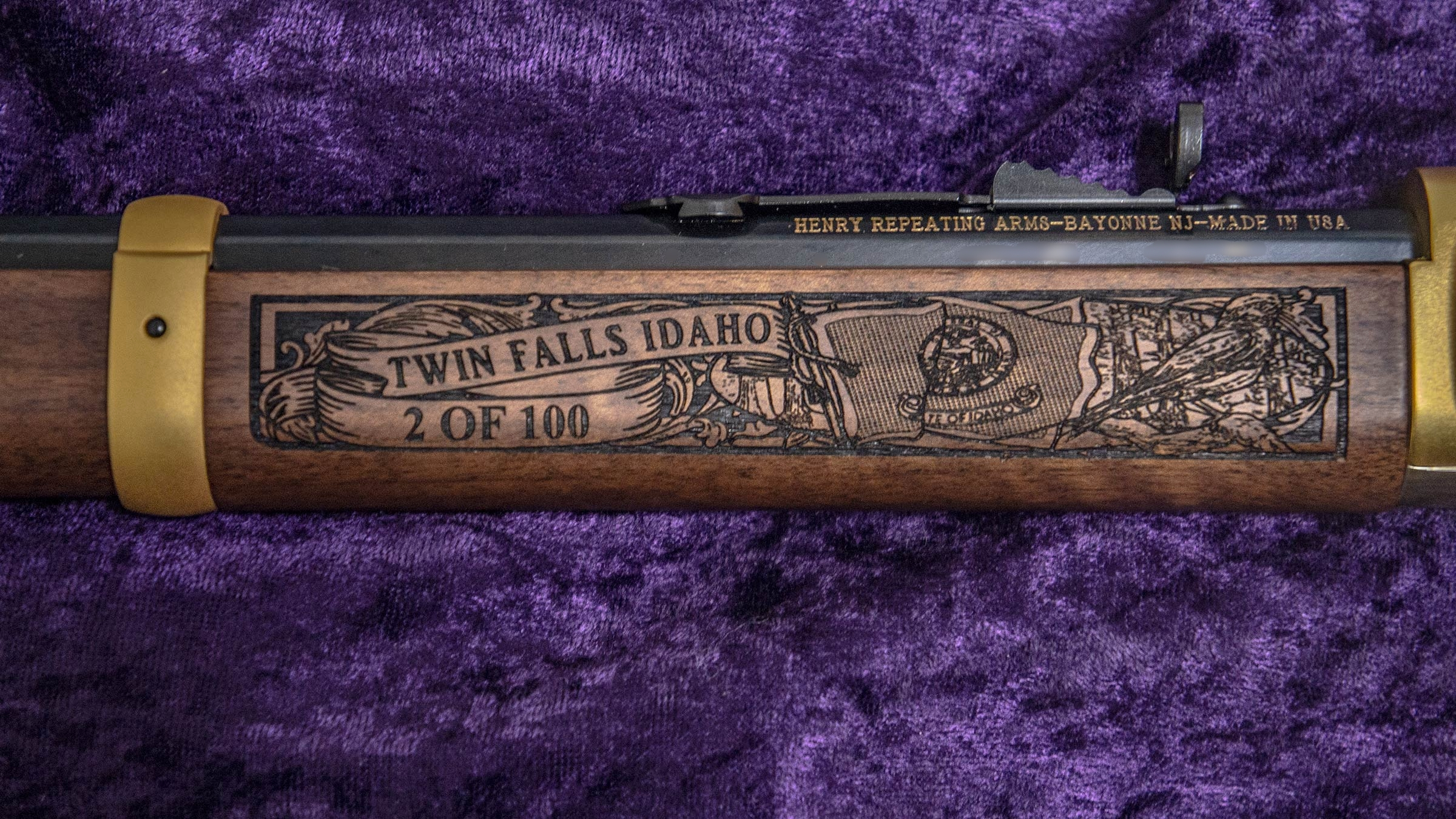 Your # of 100 engraved Left-side Forearm