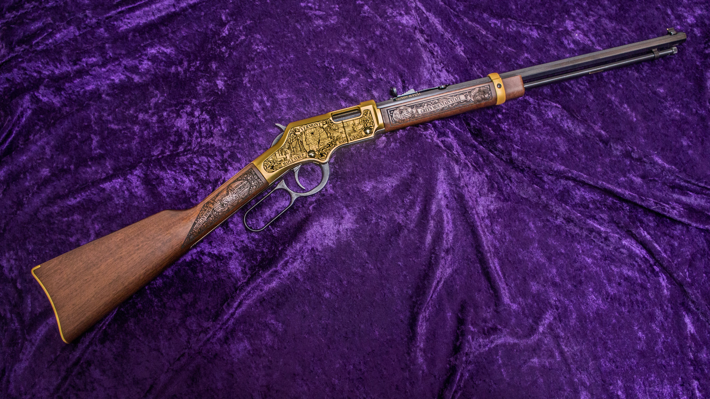 Right-side of Vermont Henry Golden Boy Rifle