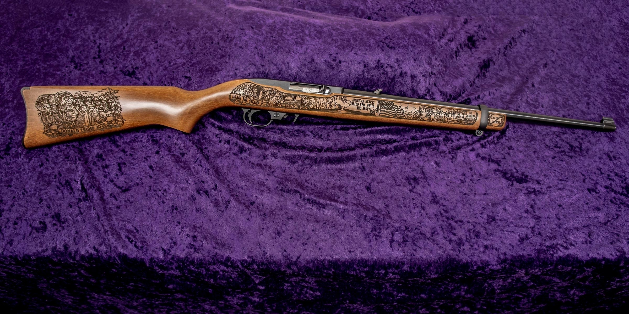 Right-side of GOP Trump 2020 Rifle