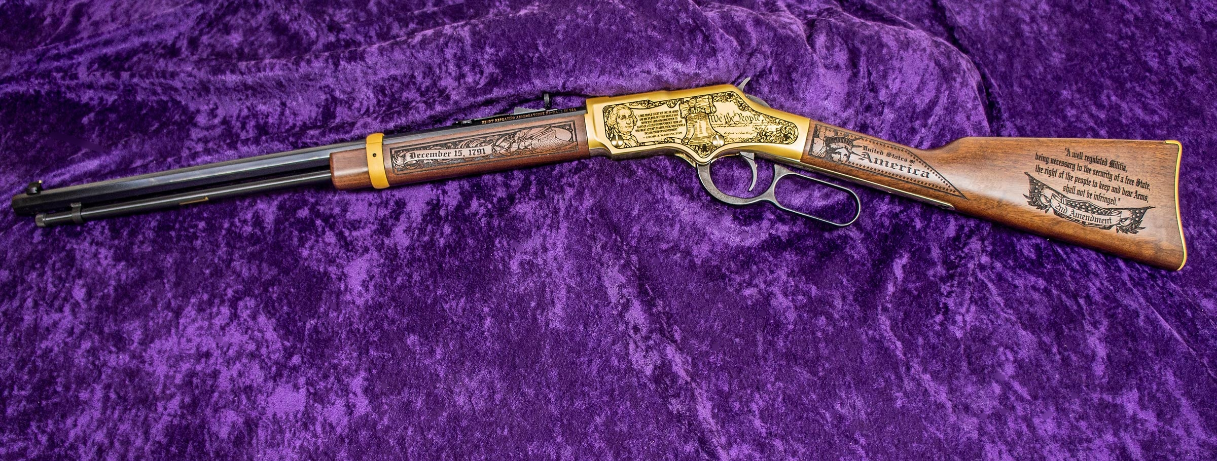 Left-side of 2nd Amendment Henry Golden Boy Rifle
