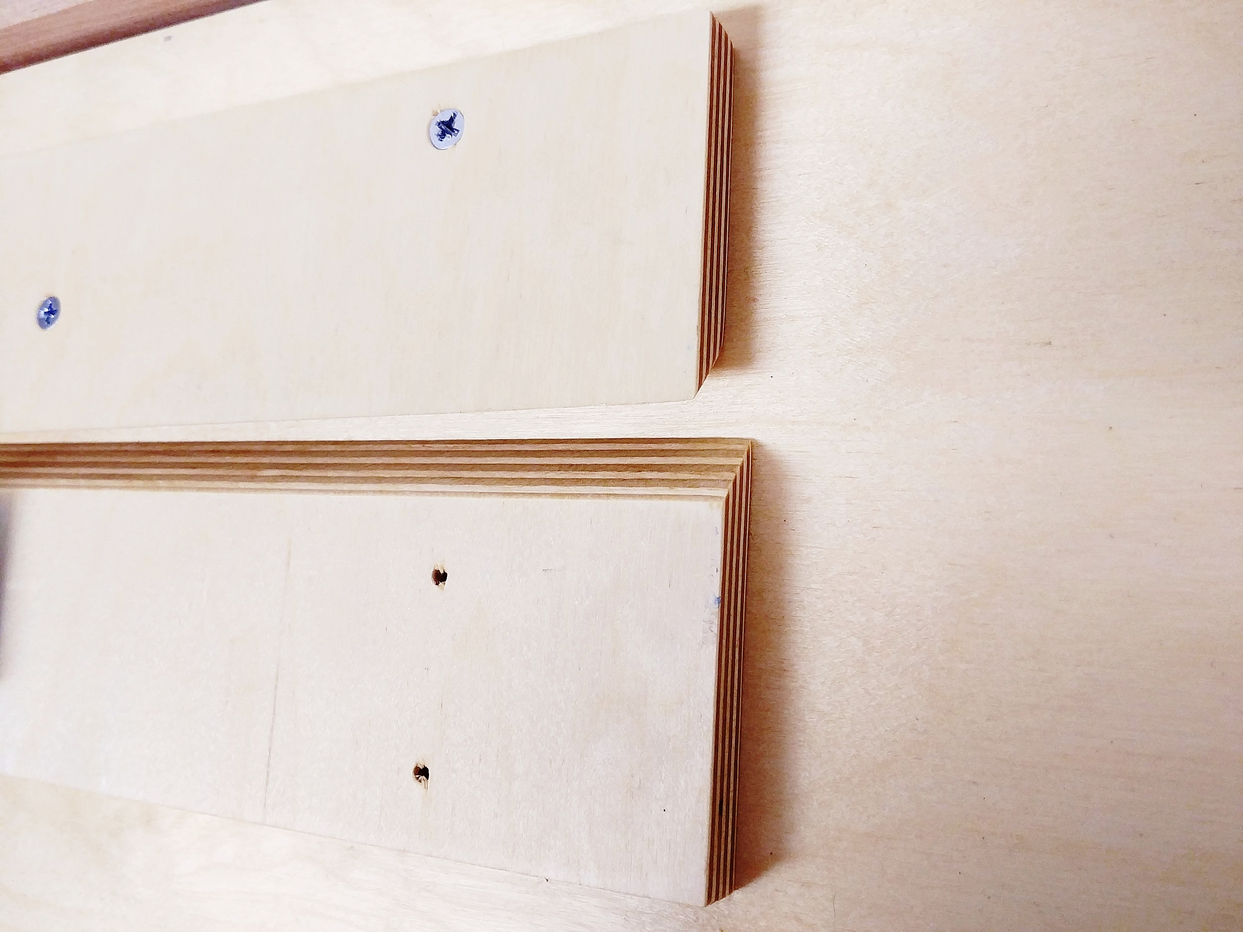 Fig 8 - Place Wall-Mount above Cleat Board