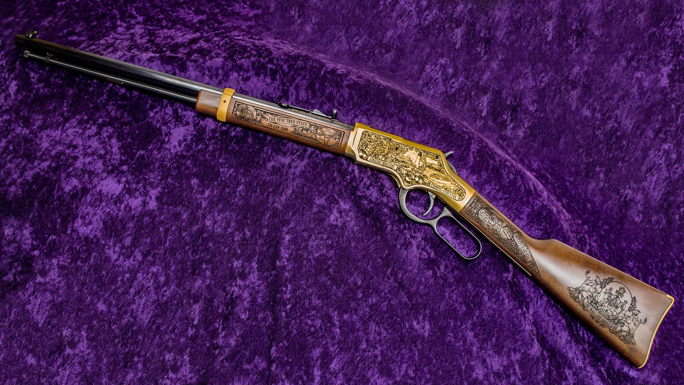 The Maine Henry Golden Boy Edition Rifles are individually numbered on the Left-Side Forearm.
