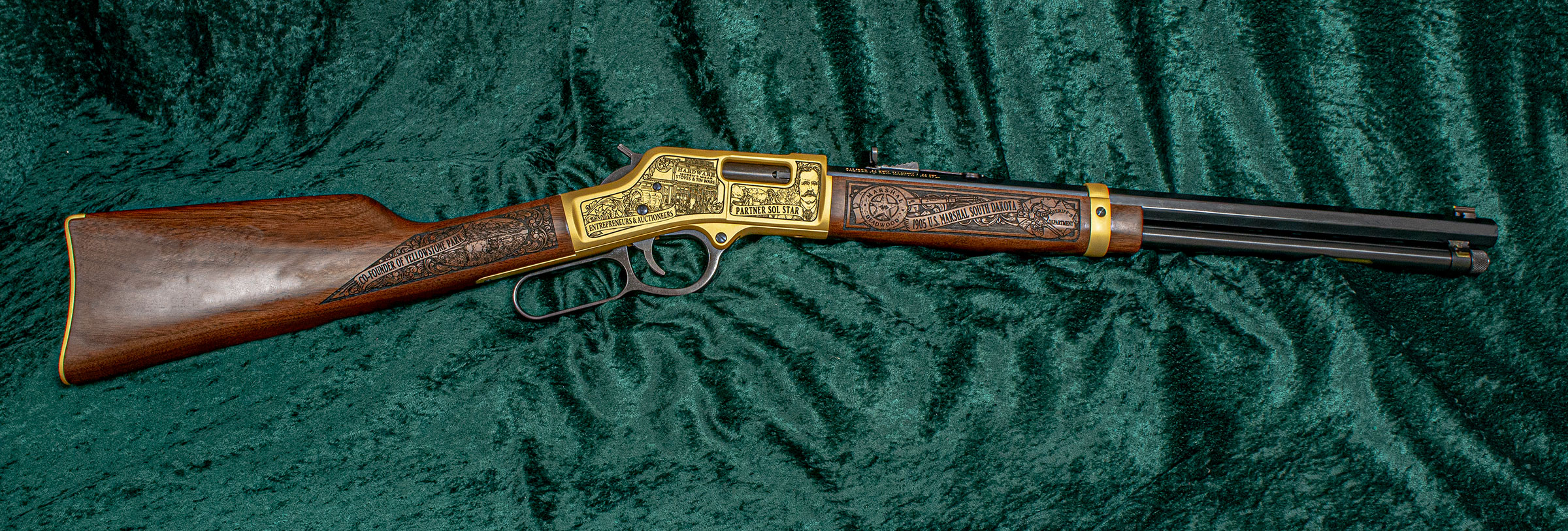 Right-side view of the Seth Bullock Rifle