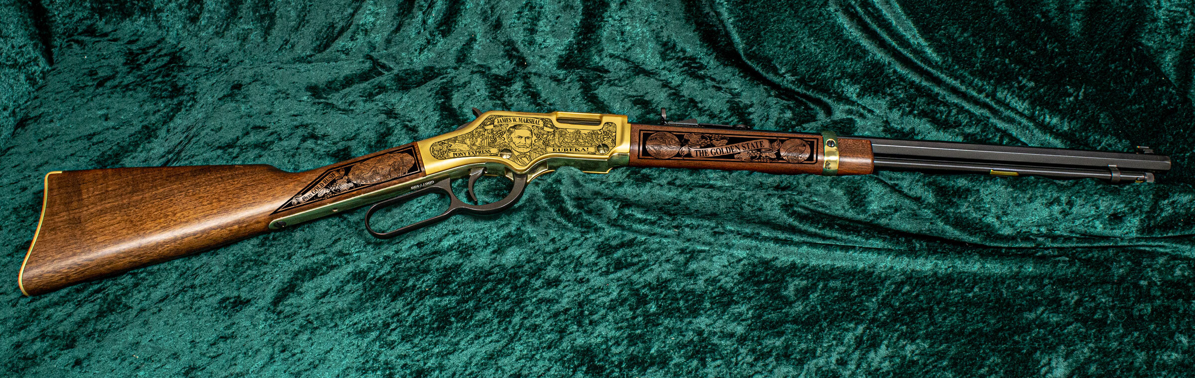 Right-side of the California Henry Golden Boy Rifle