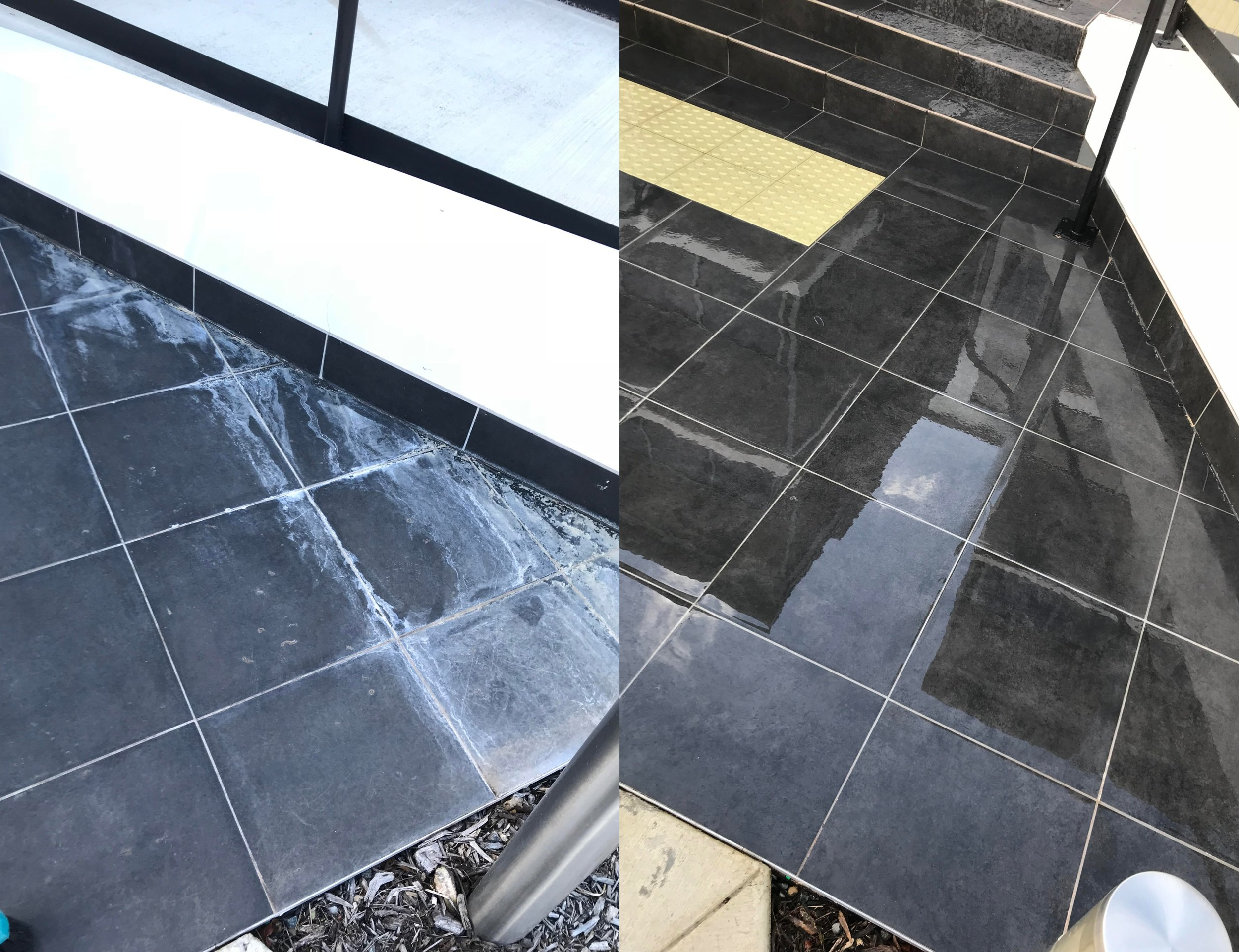 Exterior tile cleaning