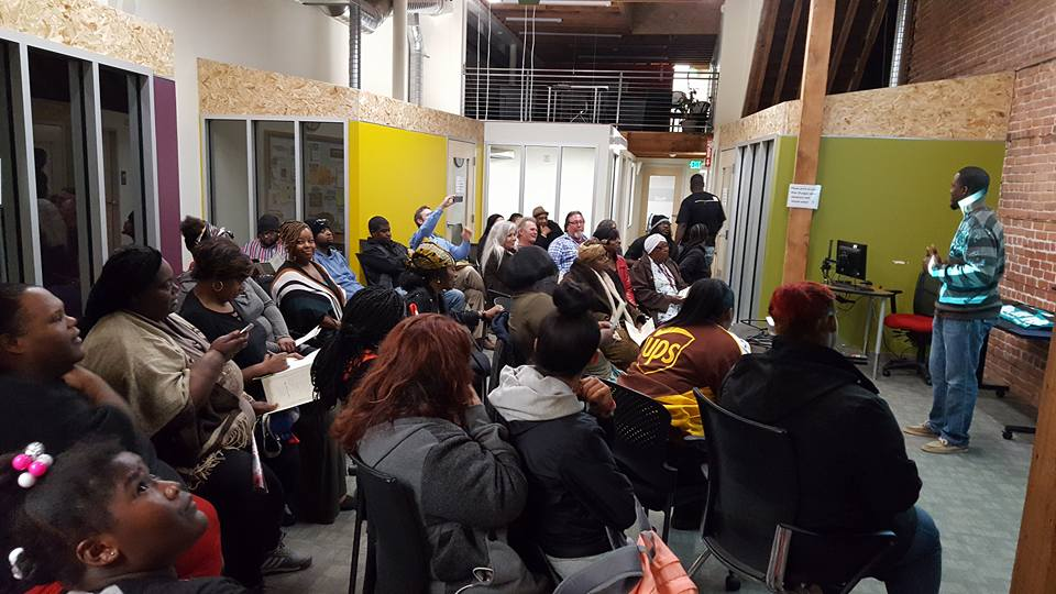 collective learning and empowerment  Our expectation is that by the end of the ten weeks this cohort of up to 20 formerly incarcerated leaders will engage residents in community education events around re-entry and public safety issues. Participants are also expected to participate in civic engagement activities, giving testimony at public hearings, and leading community actions.