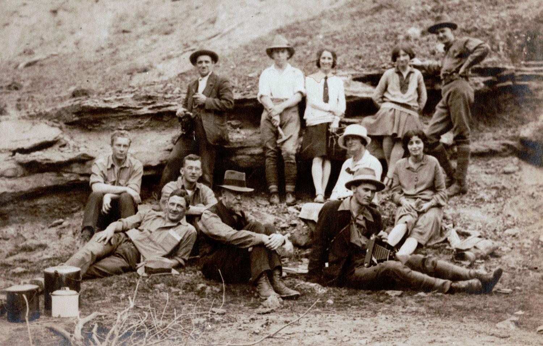 Irwin River UWA Geology Camp, September 1928, UWA Geology Museum