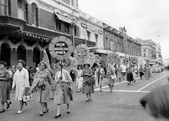 May Day, Union of Australian Women Fremantle, 1963, State Library of WA b006835d
