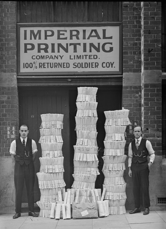 Imperial Printing Co 100% returned soldiers, 1921, State Library of WA b2951726