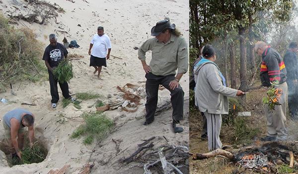 Stabilization of in situ sites and smoking ceremonies - DPLH