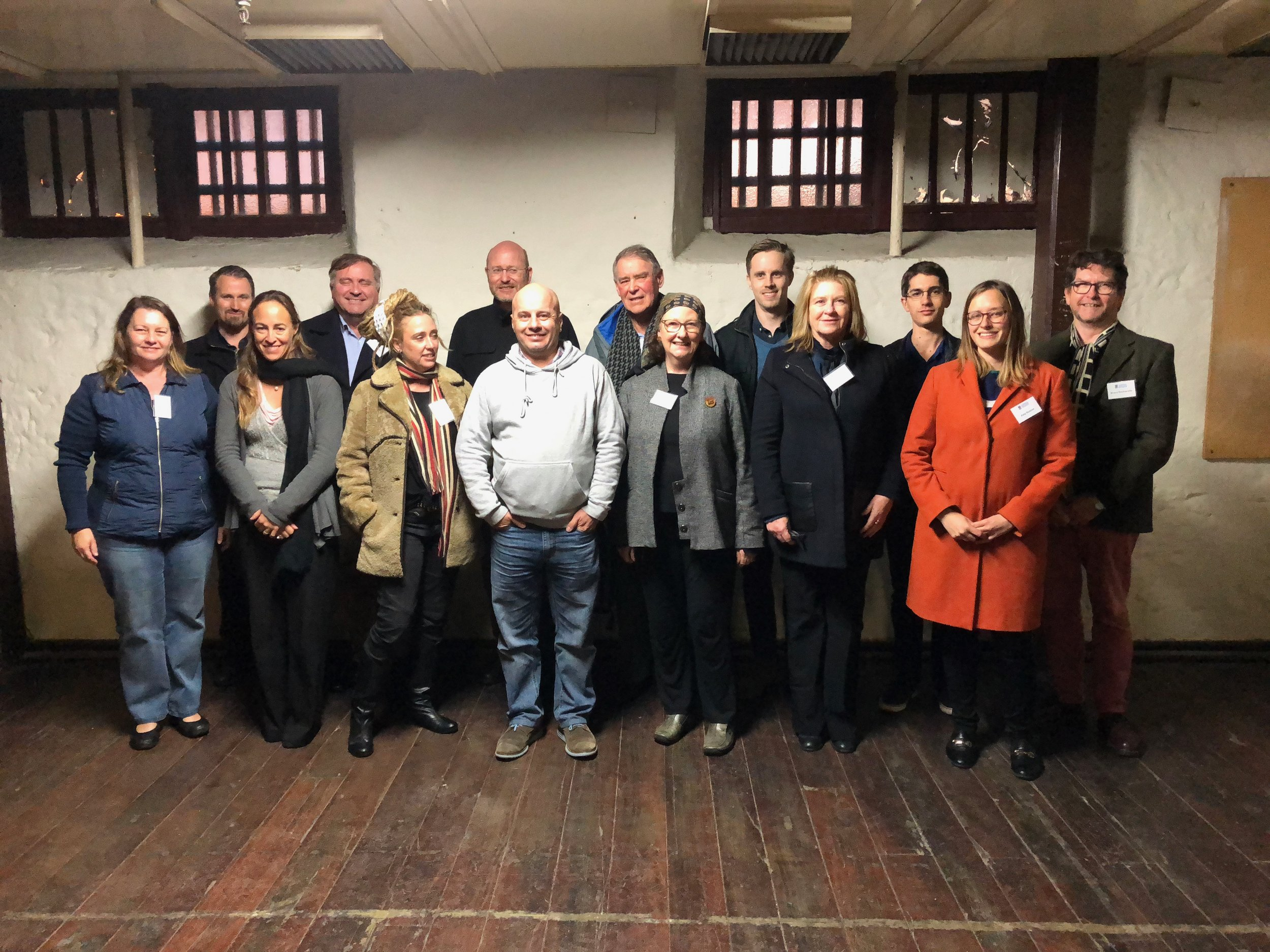 Back row (L to R): Moss Wilson, Shane Burke, Hamish Maxwell-Stewart, Bill Edgar, Louis Marshall, Sean Liddelow, Bruce Baskerville Front row (L to R): Lucy Hair, Olimpia Cullity, B'geella Romano, Sean Winter, Jenny Gregory, Denise Young, Katy Roscoe