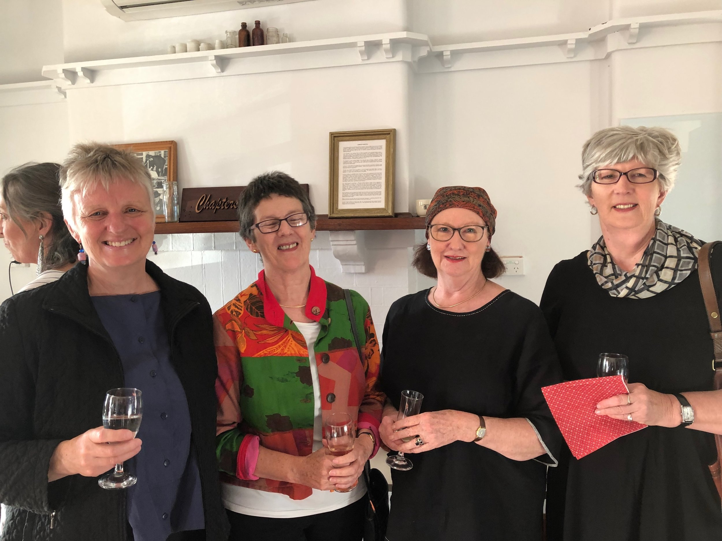 l-r Denise Cook, Jean Butler, Jenny Gregory, Sue Hart (photographed by Pam Harris)