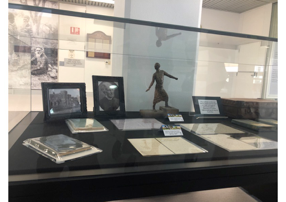 One of the display cases