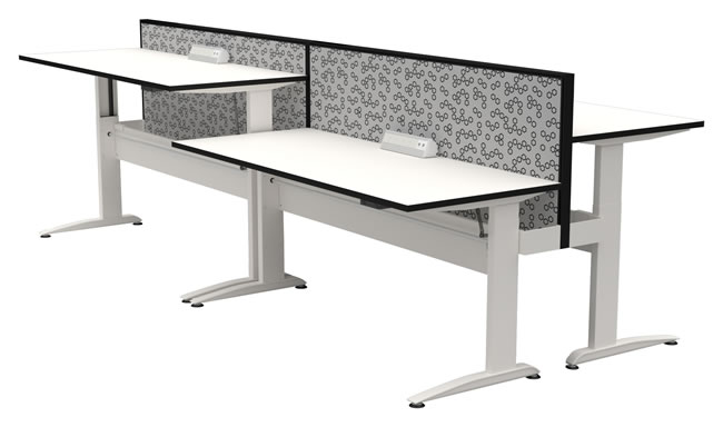 White Straight Desk