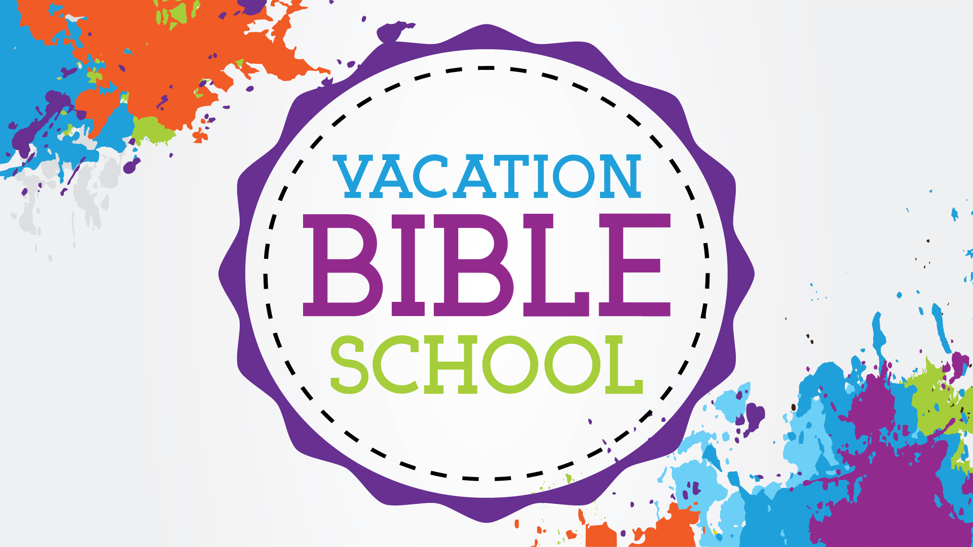 VBS - Vacation Bible School: We do this once a year there is food games, and lessons. We try to get as many kids as we can to come. We plan this event in the summer for good weather conditions.